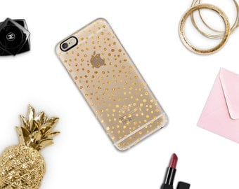 Gold Confetti iPhone Case