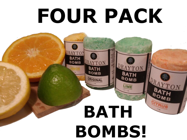 Premium bath bomb set for men 4 total original by for Bathroom sets for men