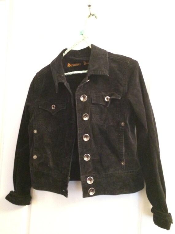 Black Velvet Jacket - Size: Large