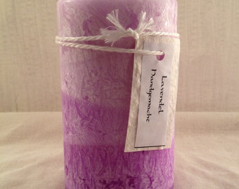 "Stearin scented candle ""Lavender"""