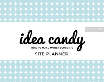 Site Planner Workbook - How to Make Money Blogging - PDF DOWNLOAD