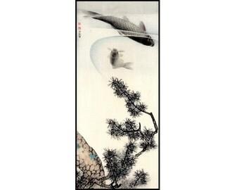 Japanese Print - Fish Vintage Print - Fish Digital Print - Japanese Vintage - Japanese Art - Ukiyo-e - Woodblock Print - Digital Download