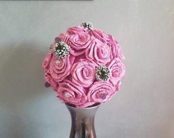 Crepe paper rose ball