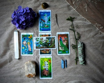 6 Card Tarot Reading Dyadic Cross Spread (Questions/Obstacles/Challenges)