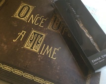 The Once Upon A Time Book with Emma Swan Dark One Dagger Px Letter Opener