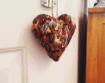 Feather Hanging Heart