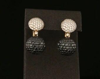 Pendienets 14 k gold white diamonds 1.08 CT