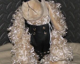 Mature, leather clad M type dog