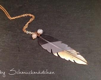 Necklace pen rose gold