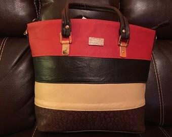 Tote bag handbag leather leon guanajuato piel 100% piel  bolsa de piel wallet cartera