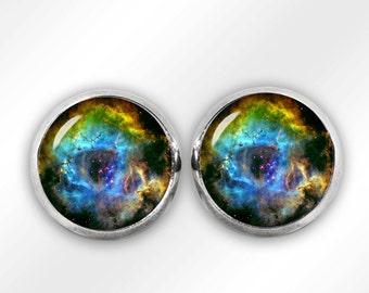Rosette Nebula Stud Earrings Nebula Earrings Nebula Jewelry Space Sci Fi Jewelry