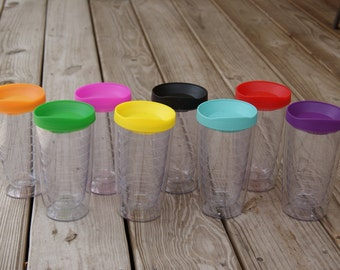 Pacific - Acrylic Tumbler - Double Wall - BPA free - Lid included - 16 Oz - 8 colors - Tervis style tumbler