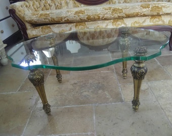 Vintage Hollywood Regency coffee table
