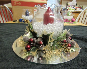Foral Candle Centerpiece