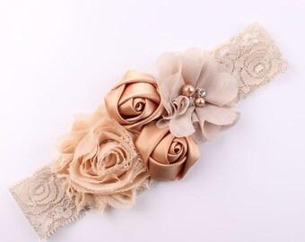 Shabby Lace Baby Headband