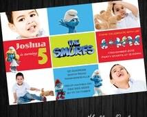 The Smurfs Party Invitation