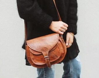 Gusti leather 'Evelyn' Leather Shoulder Satchel vintage