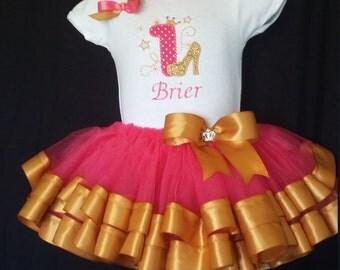 Princess First Birthday Tutu, Onesie, 3 months to 6 months, 6 months to 12, 12 months to 18 months