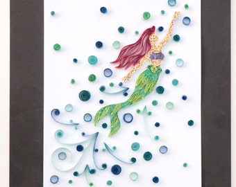 Quilled Princess Creations, Princess Ariel Inspired Sample