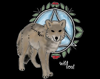 Therian Shaded Brown Wolf Shirt