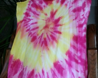 Tie Dyed Pink And Yellow Cami
