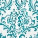 Turquoise Curtain Panels Aqua Teal Curtains Window Treatments Floral Home Decor Bedroom Kitchen Living Room Custom Drapes