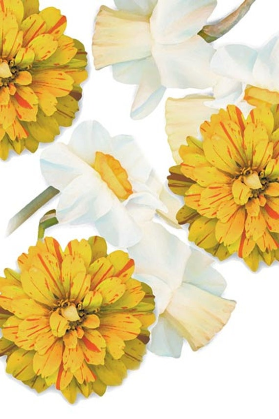 """Sunny flower designs on gallery wrapped canvas, 22""""x32"""" flower art prints. From Sun Up Design. From garden to fabric. Home staging wall art."""
