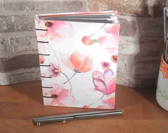 Notebook A6 flower watercolor / / rose / / red / / notebook / / gift for you / / journal / / flowers