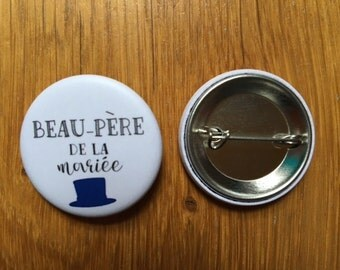 Stepfather of the bride wedding badge