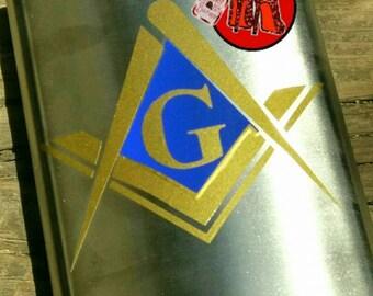 Masonic Stainless Steel Flask 8oz.