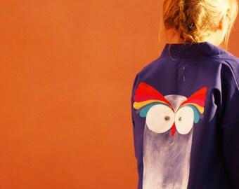Oh owl painted kimono jacket