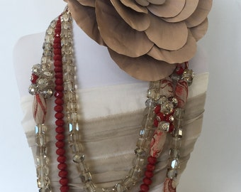 Geometric Crystal stone necklace