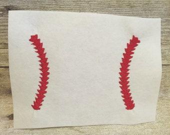 Baseball Strings Applique, Baseball Strings Embroidery Design