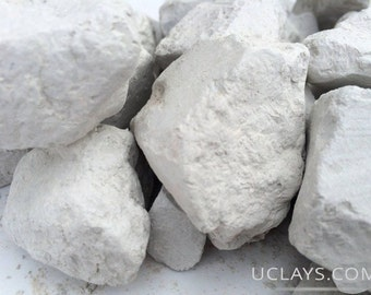 GRAY edible natural Clay chunks lump for eating (food), Free Samples (Russian clay)