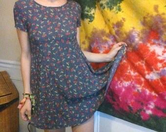 Cherry Print Babydoll Dress