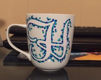 Custom painted coffee mugs