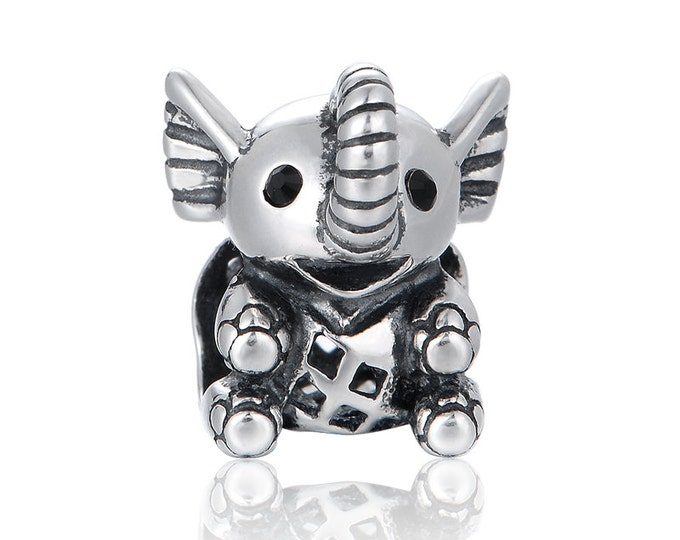 Lucky Elephant Charm - 925 Sterling Silver - Animal Charms - Gift Packaging Available - Birthday Gift - Wedding Gift