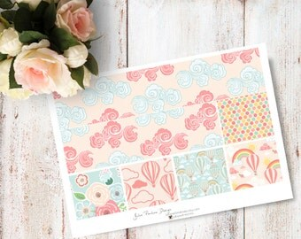 """Planner Stickers for the vertical Erin Condren Life Planner - Up In The Sky Kit """"Washi"""" Sheet"""