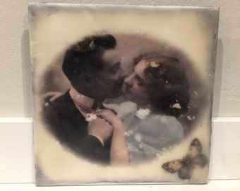 Custom encaustic painting with your own photo. (use your photo, this is just an example)