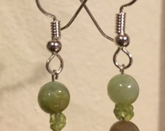 Opal and Peridot Earrings