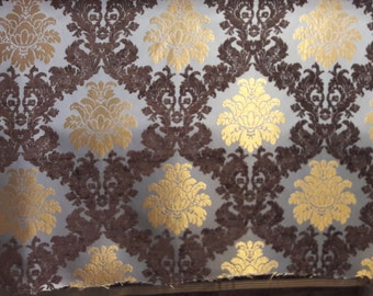 SALE!!!FedEx!!!by the Meters,Yards,Damask,Chenille,Jacquard,Turkish,Ottoman Style,Exclusive Chenille Upholstery Fabric, Fabric,RTRGold