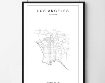 Poster poster card los angeles minimalist and simple, original decoration for the House.