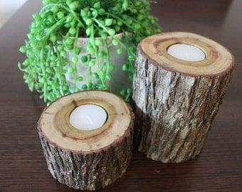 Wooden Tea-Light Candle Holder