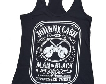 A Tribute To Johnny Cash Black Tank Top