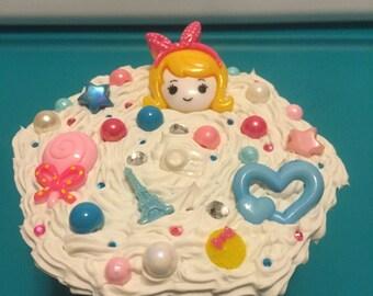 Decoden Cutie Girl Treasure/Keepsake Box YELLOW