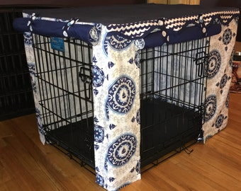 Crate cover - decorative dog kennel cover
