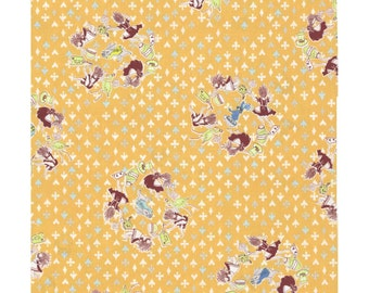 Alice in Wonderland Fabric | Down the Rabbit Hole | Wonderland Print | Kokka Japanese Import Fabric