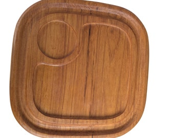 Mid-century teak serving tray
