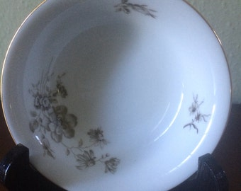 Vintage Johann Haviland Twilight Rose Dessert Bowl