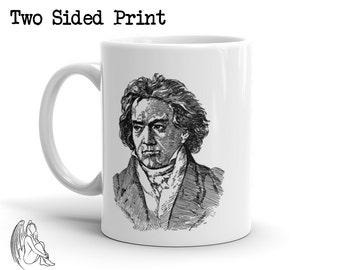 Beethoven Coffee Mug, Composer, Moonlight, Sonata, Symphony, Music, Classical, Piano, Cute Gift